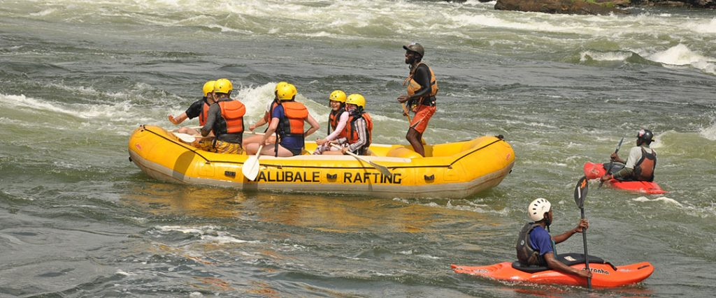 Rafting on the Nile river in Jinja Uganda
